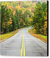 Where This Road Will Take You - Talimena Scenic Highway - Oklahoma - Arkansas Canvas Print by Silvio Ligutti
