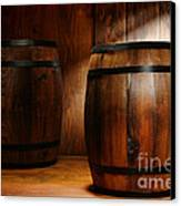 Whisky Barrel Canvas Print by Olivier Le Queinec