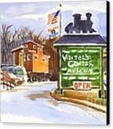 Whistle Junction In Ironton Missouri Canvas Print by Kip DeVore