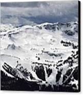 Whistler Mountain View From Blackcomb Canvas Print by Pierre Leclerc Photography