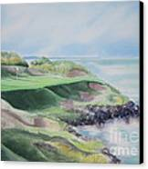 Whistling Straits 7th Hole Canvas Print by Deborah Ronglien