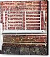 White Bench Canvas Print by Tom Gowanlock