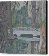 White Bridge Canvas Print by Dave Smith