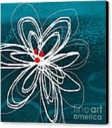 White Flower Canvas Print by Linda Woods