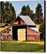 Whitefish Barn Canvas Print by Marty Koch