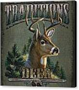 Whitetail Deer Traditions Canvas Print by JQ Licensing