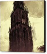 Wicked Tower Canvas Print by Ayse Deniz