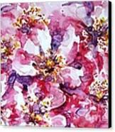 Wild Rose Canvas Print by Zaira Dzhaubaeva