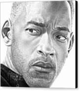 Will Smith Canvas Print by Marvin Lee