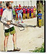 William Tell, From Peeps Into The Past Canvas Print by Trelleek