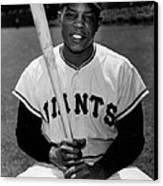 Willie Mays Canvas Print by Gianfranco Weiss