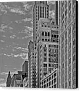 Willoughby Tower And 6 N Michigan Avenue Chicago  Canvas Print by Christine Till