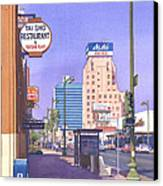 Wilshire Blvd At Mansfield Canvas Print by Mary Helmreich