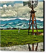 Windmill On The Hills Canvas Print by Artist and Photographer Laura Wrede