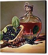 Wine And Berries Canvas Print by Natasha Denger