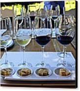 Wine And Cheese Tasting Canvas Print by Kurt Van Wagner