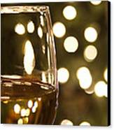 Wine By The Lights Canvas Print by Andrew Soundarajan