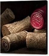 Wine Corks Still Life Iv Canvas Print by Tom Mc Nemar