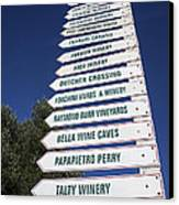 Wine Country Signs Canvas Print by Garry Gay