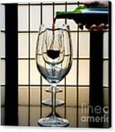 Wine For Three Canvas Print by John Debar