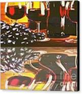 Wine Reflections Canvas Print by PainterArtist FIN