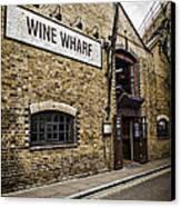 Wine Wharf Canvas Print by Heather Applegate