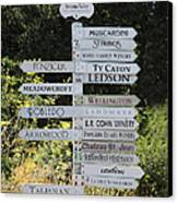 Winery Street Sign In The Sonoma California Wine Country 5d24601 Canvas Print by Wingsdomain Art and Photography