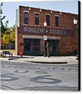 Winslow Arizona - Such A Fine Sight To See Canvas Print by Christine Till