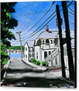 Winslow Street Canvas Print by Jean Pacheco Ravinski
