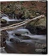 Winter At Buttermilk Falls Canvas Print by Frank Piercy
