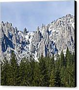 Winter At Castle Crags Canvas Print by Loree Johnson