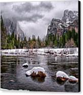 Winter At Valley View Canvas Print by Cat Connor