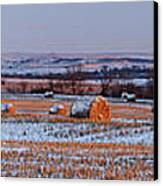 Winter Bales Canvas Print by Scott Bean