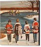 Winter Classic - 2010 Canvas Print by Ron  Genest