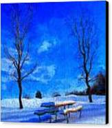 Winter Day On Canvas Canvas Print by Dan Sproul
