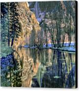 Winter Falls Canvas Print by Bill Gallagher