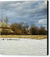Winter Farm Canvas Print by Steve McKinzie