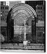 Winter Garden At World Trade Financial Center New York City Canvas Print by Joe Fox