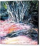 Winter Habitat No.1 Canvas Print by Trudi Doyle