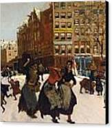 Winter In Amsterdam Canvas Print by Georg Hendrik Breitner