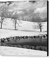 Winter In Kentucky Canvas Print by Wendell Thompson