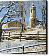 Winter In Stoykite Canvas Print by Kiril Stanchev