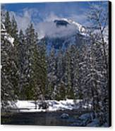 Winter In The Valley Canvas Print by Bill Gallagher