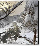 Winter Morning Canvas Print by Bill Wakeley