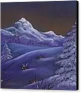 Winter Night Canvas Print by Anastasiya Malakhova