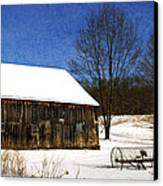 Winter Scenic Farm Canvas Print by Christina Rollo