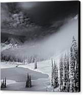Winter Storm Clears Canvas Print by Mike  Dawson
