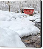 Winter Stream Canvas Print by Bill Wakeley