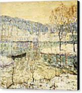 Winter Stream Canvas Print by Ernest Lawson