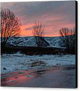 Winter Sunrise Canvas Print by Chad Dutson